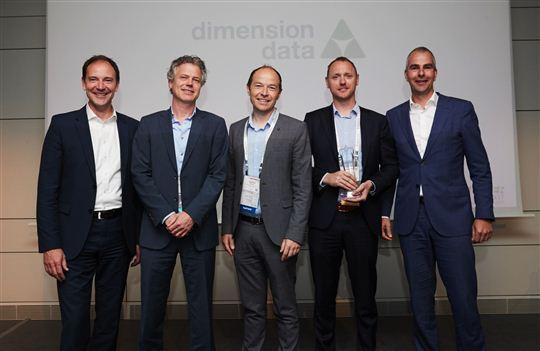 Van links naar rechts: Friedbert Schuh, Roger Beckand Verwée, Gauthier Bolleyn, Jeff De Graef en Kim de Boer