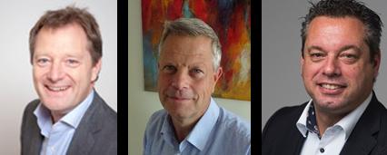 V.l.n.r.: Epco Pottinga, Ron van der Touw, Hans van Zalingen