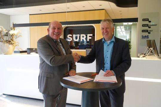 Ondertekening van de overeenkomst tussen SURFmarket en Sensus-methode
