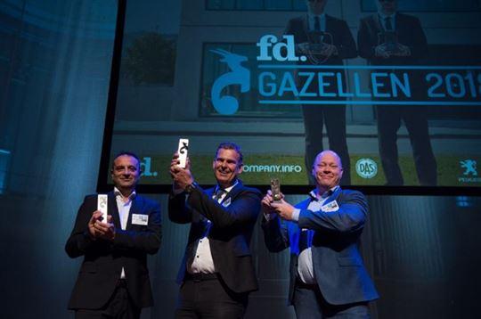 De winnaars van FD Gazellen 2018 in categorie middelgroot, Regio West-Nederland
