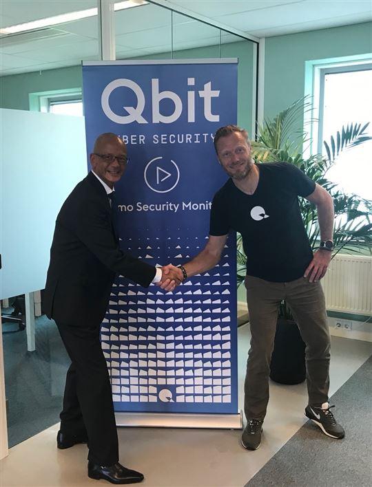 Links Jeff Scipio Partner Director Guardian360, rechts Erik Rutkens CEO Qbit Cyber Security.