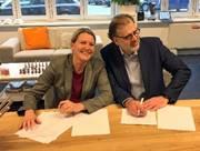 Meike Mulder en Pieter Zandee