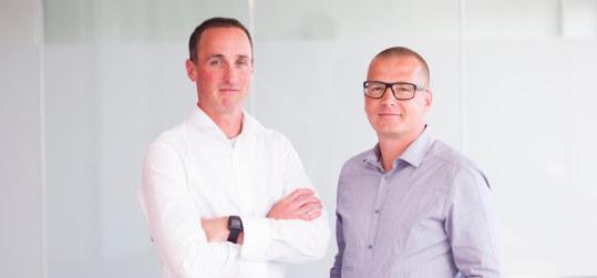 Textmetrics founders Marcel Leeman (r) Kyrill Poelmans (l)