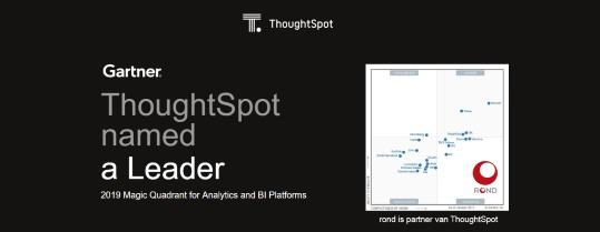 ThoughtSpot leider in Gartner Magic Quadrant 2019 voor Analytics & BI